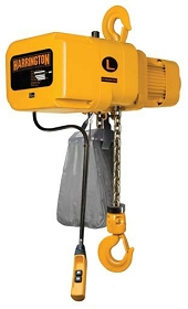 Electric Hoist 1 Ton, 10' Lift (3 phase, 14 ft/min)