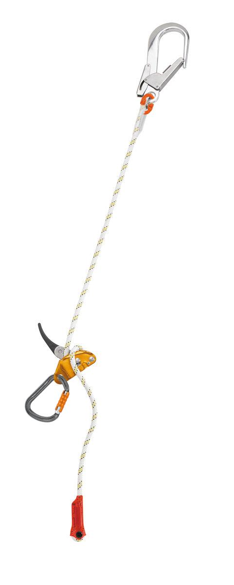 petzl grillon adjustable positioning lanyard  hook  u0026 carabiner