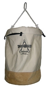 Canvas Bag w/Leather Bottom -12'' width x 17'' height