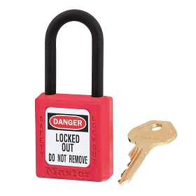 Master Lock Red LOTO Zenex Lock