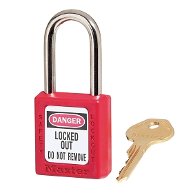 Master Lock Red LOTO Thermoplastic Lock