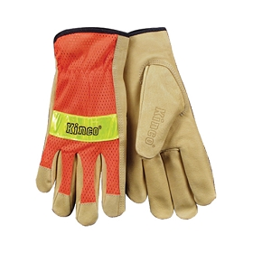 Kinco Hi-Vis Orange mesh & Grain Work Gloves