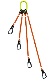 4-Legged Tool Lifting Rope Sling w/Carabiners