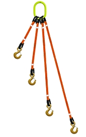 4-Legged Tool Lifting Rope Sling w/Crosby® Hooks