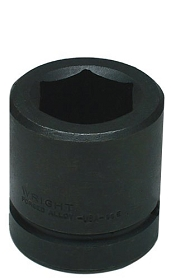Wright Tool Metric 6 Point Impact Socket, 1/2