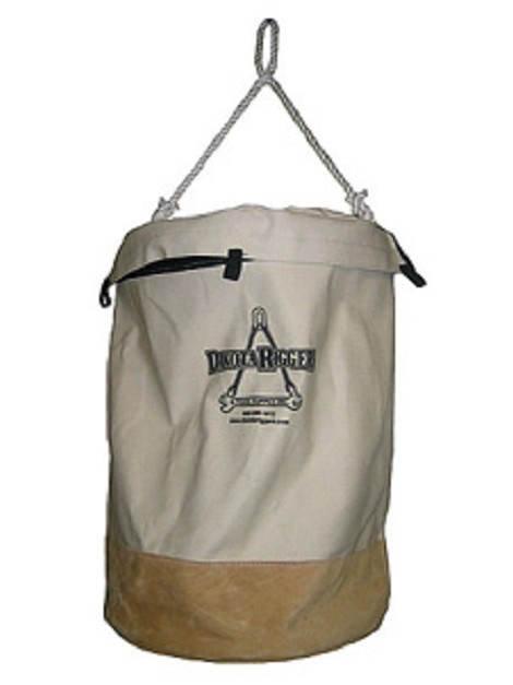 Canvas Bag w/Leather Bottom (17'' width x 24'' height)