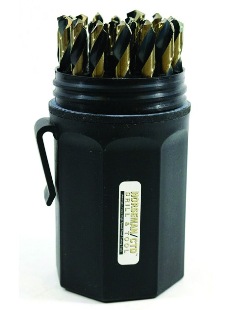 Drill Bit Set 29 pc. Black & Gold Magnum (Norseman)