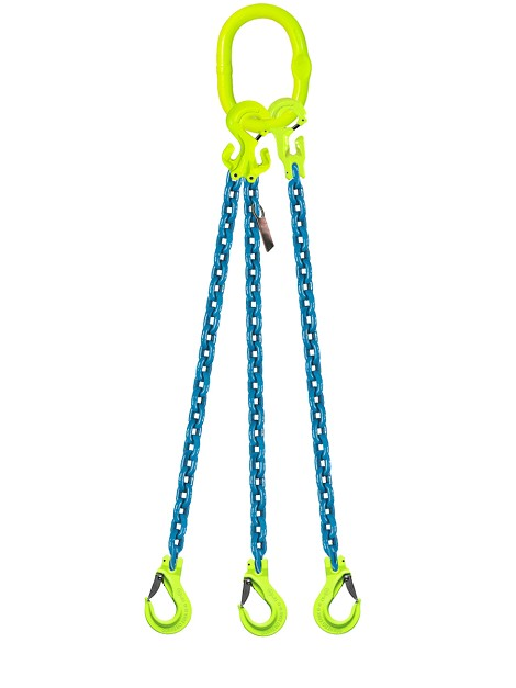 "Grade 100 Adjustable 3-Leg 3/8"" Chain Sling"